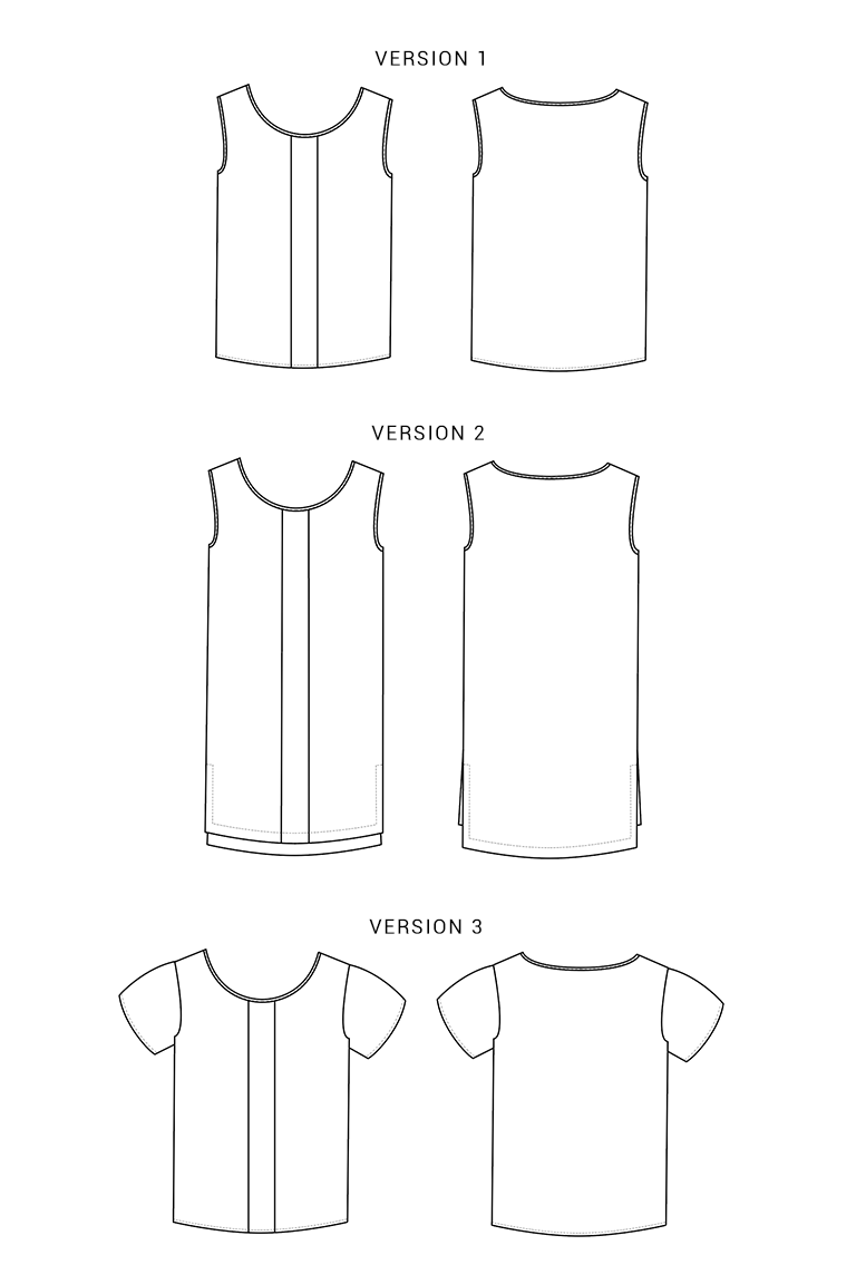 The Sorbetto sewing pattern, from Seamwork