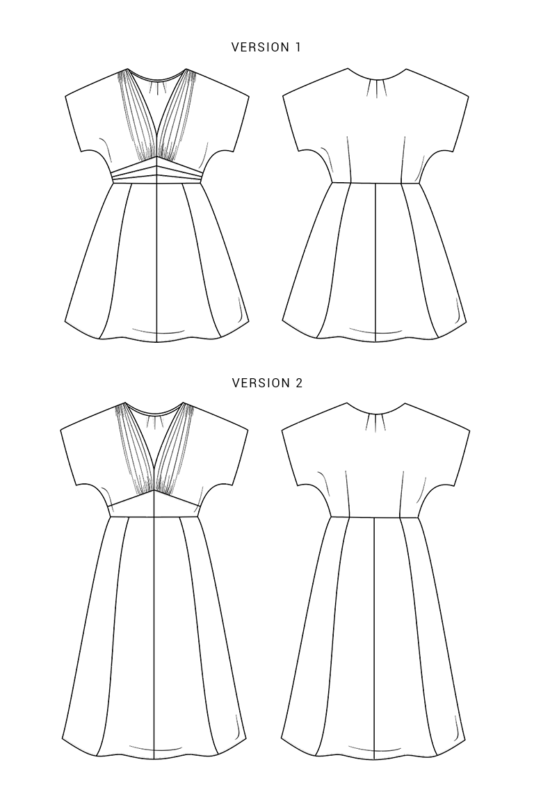 The Myrna sewing pattern, from Seamwork
