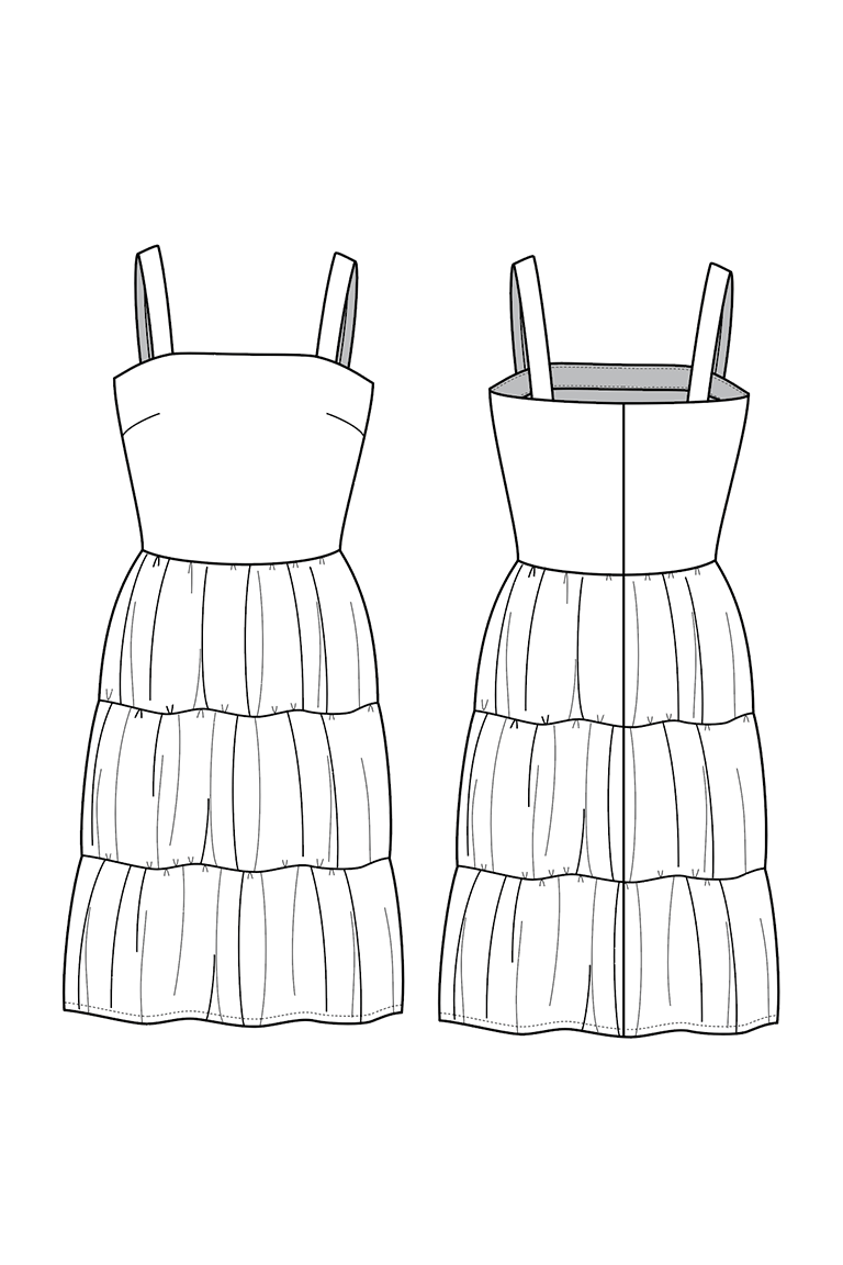 The Amber sewing pattern, from Seamwork